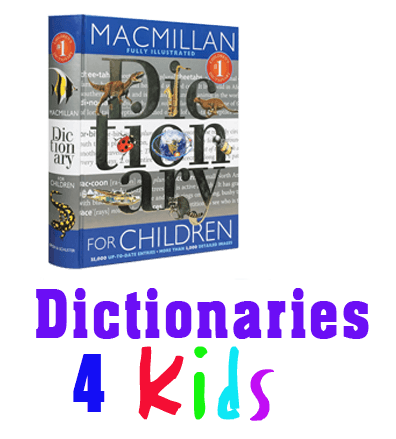 dictionaries for kids stacked